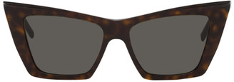 Saint Laurent Tortoiseshell Angular SL 372 Sunglasses