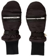 Grandoe Leather-Trimmed Woven Mittens