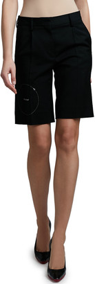 Off-White Gabardine Formal Shorts