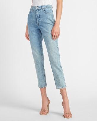 Express High Waisted Original Faded Mom Jeans