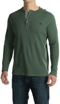 Timberland Wharf River Waffle Henley Shirt - Long Sleeve (For Men)