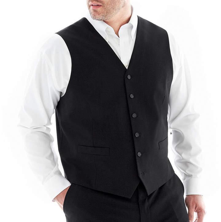 Jf J.Ferrar JF Stretch Gabardine Suit Vest-Big & Tall