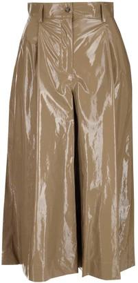 MSGM Wide-Leg Culotte Pants
