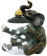 Sterling 91-2264 Composite/Glass Elephant Storage Jar
