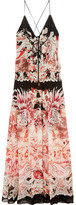 Roberto Cavalli Phoenix Printed Silk-georgette Gown - Pastel pink