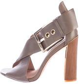 Rachel Zoe Leather Crossover Sandals