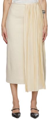 Jil Sander Off-White Plisse Skirt