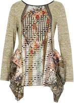 Izabel London Contrast Print Tunic Top