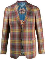 Etro checked single-breasted jacket