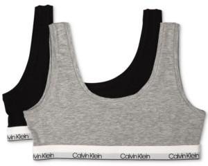 Calvin Klein 2-Pack Bralettes, Little Girls & Big Girls