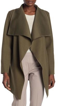 Lola Made In Italy Draped Shawl Collar Coat