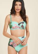 ModCloth Waterfront Flaunt Bikini Top in Nature in L - Classic Bra