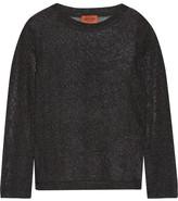 Missoni Metallic Crochet-knit Top - Black