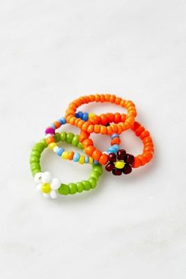 Urban Outfitters Beaded Ring 4-Pack - Assorted S/M at