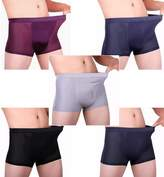 Jinmen Men's 5 Pack Boxer Briefs Shorts Underwear Breathable Bamboo