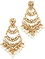 Blossom Box Imitation Pearl Dangle Chandelier Earrings