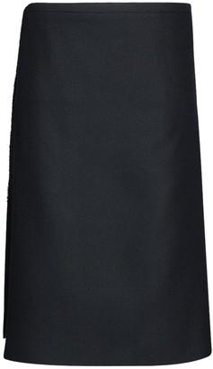 Balenciaga Scottish Kilt Style Wool Wrap Skirt