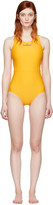 adidas by Stella McCartney Yellow Zip Swimsuit