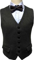Ma Men's Winter Slim Fit Cashmere Waistcoat Dress Vest for Men