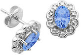 Lord & Taylor March Birthstone Sterling Silver Earrings