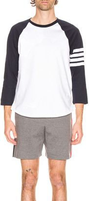 Thom Browne Baseball Tee in Navy | FWRD