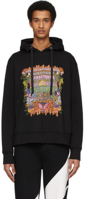 Neil Barrett Black Art Collage Hoodie