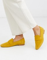 Asos Design DESIGN Motion suede loafers in mustard