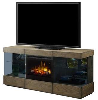 Dimplex Axel Solid Wood TV Stand for TVs up to 78 inches with Electric Fireplace Included Firebox: Electric