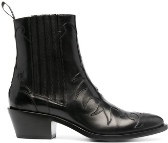 Sartore Texan leather boots