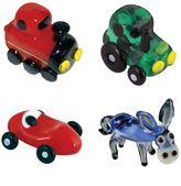 Looking Glass 4-pk. Train, Tractor, Race Car & Donkey Mini Figurines