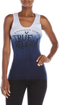 True Religion Ombré Rib Graphic Tank