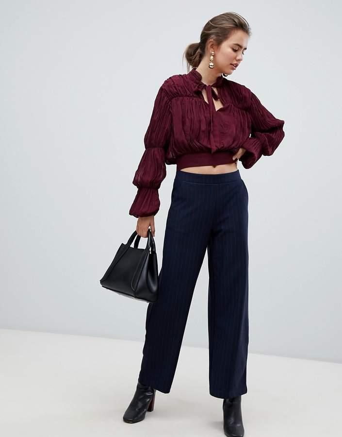 B.young pinstripe pants