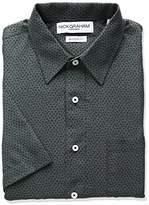 Nick Graham Everywhere Men's Dot Triangle Print Polyester Short Sleeve Dress Shirt