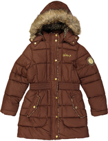 Weatherproof Chocolate Faux Fur-Trim Coat - Toddler & Girls