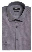 Hugo Boss Jenno Slim Fit, Italian Cotton Dress Shirt 15 Grey