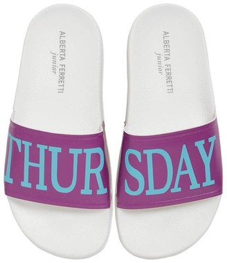 Alberta Ferretti Thursday Print Rubber Slide Sandals
