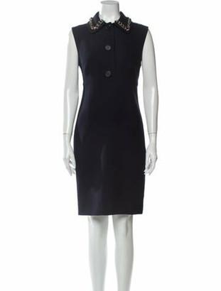 Prada Virgin Wool Knee-Length Dress Wool