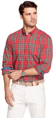 Izod Men's Tartan Button-Down Long Sleeve Shirt