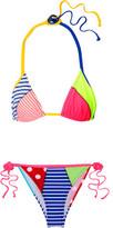 Moschino Printed Triangle Bikini