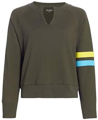 Splits59 Andi Stripe-Sleeve Sweatshirt