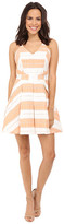 Adelyn Rae Woven Striped Fit and Flare Dress
