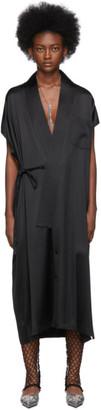 Balenciaga Black Stretch Satin Dress