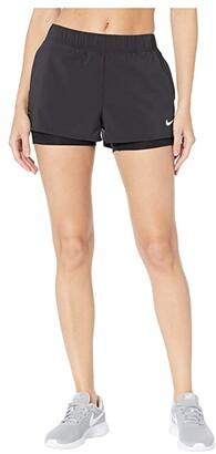 Nike Flex Shorts (Black/White) Women's Shorts