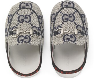 Gucci Baby Princetown GG canvas slipper