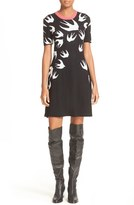 McQ by Alexander McQueen Swallow Jacquard Skater Dress