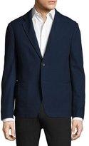 Giorgio Armani Piqué Knit Soft Jacket, Navy