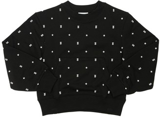 Burberry All Over Print Cotton Sweatshirt