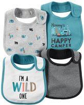 Carter's Baby Boy 4-pk. Woodland & Striped Bibs