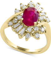 Effy Amore by Certified Ruby (1-3/8 ct. t.w.) and Diamond (5/8 ct. t.w.) Ring in 14k Gold, Created for Macy's