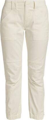 Frame Banded Bottom Trapunto Pant
